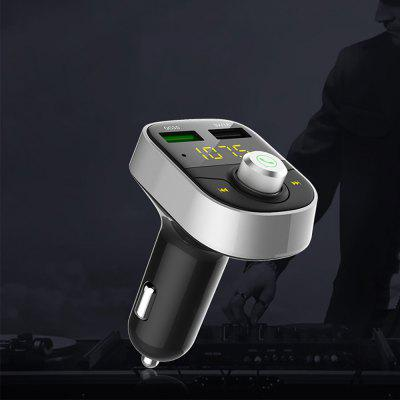 HY82S FM Transmitter MP3 Player Bluetooth Car Charger niorfnio portable 0 6w fm transmitter mp3 broadcast radio transmitter for car meeting tour guide y4409b
