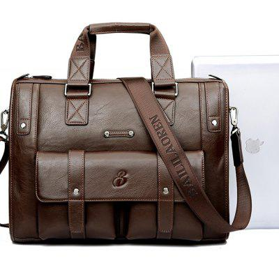 Men Fashionable Shoulder BagCrossbody Bags<br>Men Fashionable Shoulder Bag<br><br>Closure Type: Zipper<br>Gender: For Men<br>Handbag Type: Shoulder bag<br>Main Material: Microfiber Leather<br>Occasion: Business<br>Package Contents: 1 x Bag<br>Package size (L x W x H): 39.00 x 5.00 x 30.00 cm / 15.35 x 1.97 x 11.81 inches<br>Package weight: 1.3200 kg<br>Pattern Type: Others<br>Product size (L x W x H): 39.00 x 9.00 x 30.00 cm / 15.35 x 3.54 x 11.81 inches<br>Product weight: 1.3100 kg<br>Strap Length: 130cm<br>Style: Fashion