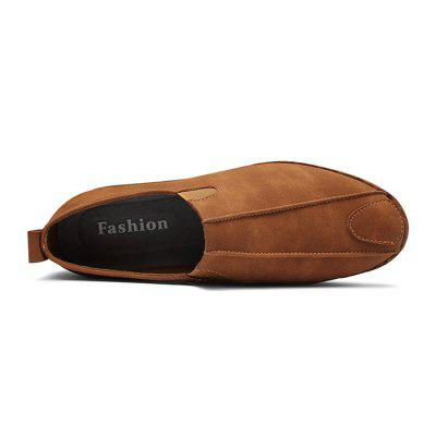 Men Leisure Soft British Style Slip-on Leather Flat ShoesFlats &amp; Loafers<br>Men Leisure Soft British Style Slip-on Leather Flat Shoes<br><br>Closure Type: Slip-On<br>Contents: 1 x Pair of Shoes, 1 x Box<br>Function: Slip Resistant<br>Materials: Rubber, Leather<br>Occasion: Casual, Daily, Holiday, Shopping<br>Outsole Material: Rubber<br>Package Size ( L x W x H ): 30.00 x 20.00 x 10.00 cm / 11.81 x 7.87 x 3.94 inches<br>Package weight: 0.8000 kg<br>Product weight: 0.6500 kg<br>Seasons: Autumn,Spring,Summer<br>Style: Fashion, Comfortable, Casual<br>Toe Shape: Round Toe<br>Type: Flat Shoes<br>Upper Material: Leather