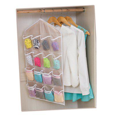 16-Pocket Underwear Socks Storage BagStorage Bags<br>16-Pocket Underwear Socks Storage Bag<br><br>Functions: Bathroom, Home, Kitchen, Living Room<br>Materials: Polyester<br>Package Contents: 1 x Storage Bag<br>Package Size(L x W x H): 15.00 x 10.00 x 3.00 cm / 5.91 x 3.94 x 1.18 inches<br>Package weight: 0.8000 kg<br>Product Size(L x W x H): 73.00 x 42.00 x 0.20 cm / 28.74 x 16.54 x 0.08 inches<br>Product weight: 0.6500 kg<br>Types: Storage Bags