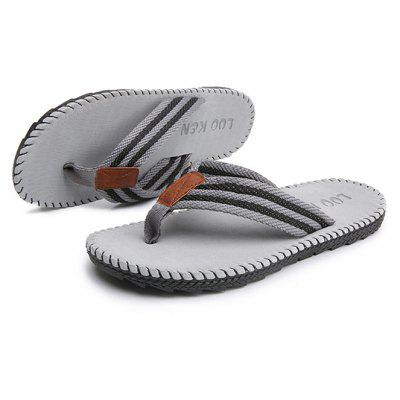 Men Casual Beach Breathable SlippersMens Slippers<br>Men Casual Beach Breathable Slippers<br><br>Contents: 1 x Pair of Slippers<br>Function: Slip Resistant<br>Materials: Rubber, Linen<br>Occasion: Tea Party, Shopping, Holiday, Daily, Casual, Beach<br>Outsole Material: Rubber<br>Package Size ( L x W x H ): 28.00 x 16.00 x 6.00 cm / 11.02 x 6.3 x 2.36 inches<br>Package weight: 0.3600 kg<br>Product Size  ( L x W x H ): 27.50 x 16.00 x 5.00 cm / 10.83 x 6.3 x 1.97 inches<br>Product weight: 0.3500 kg<br>Seasons: Spring,Summer<br>Style: Leisure, Comfortable, Casual<br>Type: Slippers<br>Upper Material: Linen