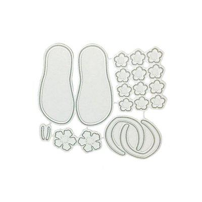 DIY Creative Slippers Pattern Cutting DieCrafts<br>DIY Creative Slippers Pattern Cutting Die<br><br>Materials: Carbon steel<br>Package Contents: 1 x Cutting Die<br>Package Size(L x W x H): 8.50 x 9.00 x 0.10 cm / 3.35 x 3.54 x 0.04 inches<br>Package weight: 0.0200 kg<br>Product Size(L x W x H): 7.50 x 8.10 x 0.08 cm / 2.95 x 3.19 x 0.03 inches<br>Product weight: 0.0100 kg