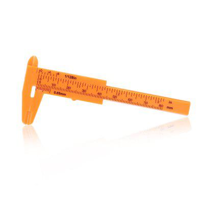 Plastic Vernier Caliper 80mm / 3 inchOther Instruments<br>Plastic Vernier Caliper 80mm / 3 inch<br><br>Accuracy: 1/128 inch / 0.05mm<br>Contents: 1 x Vernier Caliper<br>Function: Step, Inner Diameter, External Diameter, Depth<br>Material: Plastic<br>Package size (L x W x H): 12.00 x 7.50 x 1.00 cm / 4.72 x 2.95 x 0.39 inches<br>Package weight: 0.0070 kg<br>Product size (L x W x H): 10.70 x 4.50 x 0.50 cm / 4.21 x 1.77 x 0.2 inches<br>Product weight: 0.0060 kg<br>Type: Vernier caliper