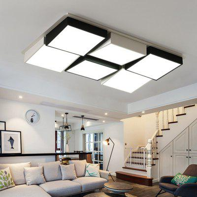 7049 Modern Geometric Shape Acrylic LED Ceiling LightFlush Ceiling Lights<br>7049 Modern Geometric Shape Acrylic LED Ceiling Light<br><br>Color Temperature or Wavelength: Cool white: 6000 - 6500k, warm white: 3000 - 3500k, natural light: 3500 - 4500k<br>Features: Eye Protection<br>Package Contents: 1 x Ceiling Light, 1 x Mounting Kit Accessory, 1 x English Manual, 1 x Remote Control<br>Package size (L x W x H): 125.00 x 85.00 x 21.00 cm / 49.21 x 33.46 x 8.27 inches<br>Package weight: 14.1000 kg<br>Product size (L x W x H): 115.00 x 75.00 x 13.00 cm / 45.28 x 29.53 x 5.12 inches<br>Product weight: 13.3000 kg<br>Shade Material: Iron, Acrylic<br>Style: Artistic Style, LED, Modern/Contemporary<br>Suggested Room Size: 20 - 30?<br>Suggested Space Fit: Bedroom,Cafes,Dining Room,Kids Room,Living Room,Office<br>Type: Ceiling Light