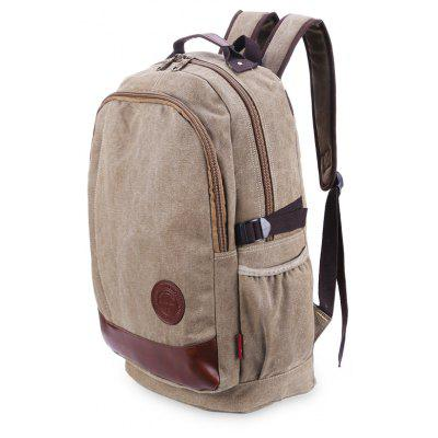 Retro Fashion Daily Men BackpackBackpacks<br>Retro Fashion Daily Men Backpack<br><br>Features: Water Resistance<br>For: Cycling, Hiking, Traveling<br>Material: Canvas<br>Package Contents: 1 x Backpack<br>Package size (L x W x H): 44.00 x 5.00 x 18.00 cm / 17.32 x 1.97 x 7.09 inches<br>Package weight: 0.7950 kg<br>Product size (L x W x H): 44.00 x 32.00 x 18.00 cm / 17.32 x 12.6 x 7.09 inches<br>Product weight: 0.7850 kg<br>Strap Length: 55 - 80cm<br>Type: Backpack