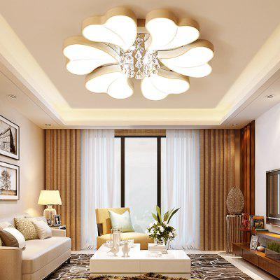 6932 Modern Heart Shape Crystal LED Ceiling LightFlush Ceiling Lights<br>6932 Modern Heart Shape Crystal LED Ceiling Light<br><br>Color Temperature or Wavelength: Cool white: 6000 - 6500k, warm white: 3000 - 3500k, natural light: 3500 - 4500k<br>Features: Crystal, Eye Protection<br>Package Contents: 1 x Ceiling Light, 1 x Mounting Kit Accessory, 1 x English Manual, 1 x Remote Control<br>Package size (L x W x H): 79.00 x 79.00 x 17.00 cm / 31.1 x 31.1 x 6.69 inches<br>Package weight: 9.2200 kg<br>Product size (L x W x H): 72.00 x 72.00 x 15.00 cm / 28.35 x 28.35 x 5.91 inches<br>Product weight: 8.5000 kg<br>Shade Material: Crystal, Iron, Acrylic<br>Style: Modern/Contemporary, LED, Artistic Style<br>Suggested Room Size: 15 - 20?<br>Suggested Space Fit: Bedroom,Cafes,Living Room,Office<br>Type: Ceiling Light