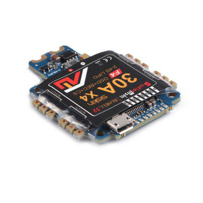 F4S 30A BLHeli - 32 4 in 1 ESC 5V BEC F4 Flight Controller AIOESC<br>F4S 30A BLHeli - 32 4 in 1 ESC 5V BEC F4 Flight Controller AIO<br><br>Package Contents: 1 x ESC + Flight Controller AIO Module, 1 x Cable, 1 x Set of Accessories<br>Package size (L x W x H): 5.00 x 5.00 x 1.00 cm / 1.97 x 1.97 x 0.39 inches<br>Package weight: 0.0450 kg<br>Product size (L x W x H): 3.60 x 3.60 x 0.50 cm / 1.42 x 1.42 x 0.2 inches<br>Product weight: 0.0220 kg<br>Type: ESC, Flight Controller, OSD Module