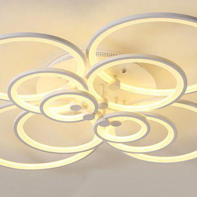 7068 Modern Overlapping Circle Shape LED Ceiling LightFlush Ceiling Lights<br>7068 Modern Overlapping Circle Shape LED Ceiling Light<br><br>Color Temperature or Wavelength: Cool white: 6000 - 6500k, warm white: 3000 - 3500k, natural light: 3500 - 4500k<br>Features: Eye Protection<br>Package Contents: 1 x Ceiling Light, 1 x Mounting Kit Accessory, 1 x English Manual<br>Package size (L x W x H): 130.00 x 110.00 x 24.00 cm / 51.18 x 43.31 x 9.45 inches<br>Package weight: 8.9000 kg<br>Product size (L x W x H): 120.00 x 98.00 x 19.00 cm / 47.24 x 38.58 x 7.48 inches<br>Product weight: 8.1000 kg<br>Shade Material: Iron, Silica Gel, Aluminum<br>Style: Simple Style, Modern/Contemporary, LED, Artistic Style<br>Suggested Room Size: 30 - 40?<br>Suggested Space Fit: Bedroom,Cafes,Dining Room,Living Room,Office<br>Type: Ceiling Light