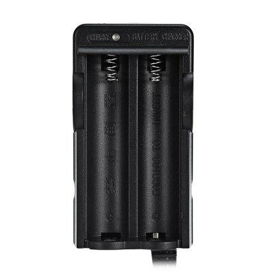 Dual Slot 18650 Rechargeable Li-ion Battery ChargerChargers<br>Dual Slot 18650 Rechargeable Li-ion Battery Charger<br><br>Battery: 18650<br>Battery Type: Lithium-ion<br>Package Contents: 1 x Double Slot Charger, 2 x 18650 Battery<br>Package size (L x W x H): 15.00 x 9.00 x 5.00 cm / 5.91 x 3.54 x 1.97 inches<br>Package weight: 0.1560 kg<br>Product size (L x W x H): 8.70 x 4.70 x 4.00 cm / 3.43 x 1.85 x 1.57 inches<br>Product weight: 0.1460 kg<br>Protected: Yes<br>Rechargeable: Yes<br>Type: Battery Charger Kit<br>Voltage(V): 4.2V