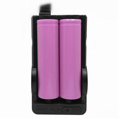 Dual Slot 18650 Rechargeable Li-ion Battery Charger smart 18650 li ion battery charging stand in car charger travel charger set black
