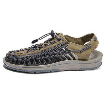 Men Handmade Weaving Design Breathable Casual SandalsMens Slippers<br>Men Handmade Weaving Design Breathable Casual Sandals<br><br>Closure Type: Elastic band<br>Contents: 1 x Pair of Shoes, 1 x Box, 1 x Dust-proof Paper<br>Decoration: Weave<br>Materials: Rubber, Woven Fabric<br>Occasion: Beach, Casual, Daily<br>Outsole Material: Rubber<br>Package Size ( L x W x H ): 33.00 x 24.00 x 13.00 cm / 12.99 x 9.45 x 5.12 inches<br>Package weight: 0.8000 kg<br>Product weight: 0.6000 kg<br>Seasons: Summer<br>Style: Leisure, Fashion, Comfortable, Casual<br>Type: Sandals<br>Upper Material: Woven Fabric