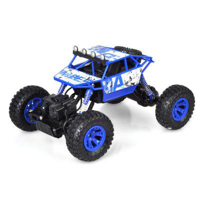 ZG - C1801 2.4G 1/18 RC Crawler CarRC Cars<br>ZG - C1801 2.4G 1/18 RC Crawler Car<br><br>Battery Information: 700mAh Dry Cell<br>Car Power: Built-in rechargeable battery<br>Channel: 4-Channels<br>Charging Time: 4 hours<br>Detailed Control Distance: About 50m<br>Drive Type: 4 WD<br>Functions: Forward/backward, Turn left/right<br>Material: PVC<br>Package Contents: 1 x RC Car ( Battery Included ), 1 x Remote Control, 1 x USB Charger<br>Package size (L x W x H): 28.50 x 19.50 x 19.70 cm / 11.22 x 7.68 x 7.76 inches<br>Package weight: 1.0400 kg<br>Product size (L x W x H): 27.50 x 18.00 x 13.00 cm / 10.83 x 7.09 x 5.12 inches<br>Product weight: 0.6600 kg<br>Proportion: 1:18<br>Racing Time: 15 - 20min<br>Remote Control: 2.4GHz Wireless Remote Control<br>Transmitter Power: 3 x 1.5V AA battery (not included)<br>Type: Crawler Car