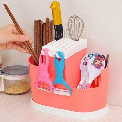 Spoon Chopsticks Storage Box for Kitchen UtensilStorage Boxes &amp; Bins<br>Spoon Chopsticks Storage Box for Kitchen Utensil<br><br>Functions: Dining Room, Home, Kitchen<br>Materials: PP<br>Package Contents: 1 x Storage Box<br>Package Size(L x W x H): 28.00 x 15.00 x 23.00 cm / 11.02 x 5.91 x 9.06 inches<br>Package weight: 0.1200 kg<br>Product Size(L x W x H): 26.00 x 13.00 x 20.00 cm / 10.24 x 5.12 x 7.87 inches<br>Product weight: 0.1000 kg<br>Types: Storage Boxes and Bins