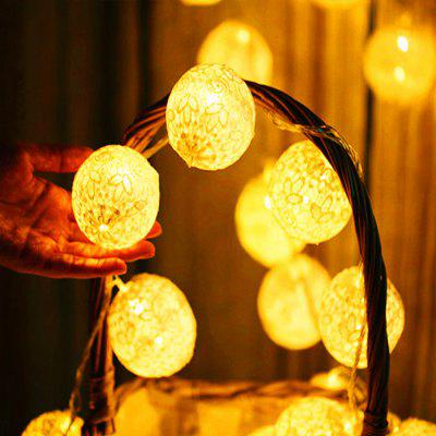 2m Handmade Lace Ball LED Strip LightNovelty lighting<br>2m Handmade Lace Ball LED Strip Light<br><br>Available Light Color: Warm White<br>Color Temperature or Wavelength: 3000 - 3500k<br>Features: Easy to use, Energy Saving<br>Function: Commercial Lighting, Home Lighting<br>Output Power: 1W<br>Package Contents: 1 x LED Strip Light<br>Package size (L x W x H): 10.50 x 8.50 x 4.00 cm / 4.13 x 3.35 x 1.57 inches<br>Package weight: 0.2500 kg<br>Product weight: 0.2400 kg<br>Sheathing Material: Copper, Plastic