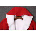 Christmas Hooded Fuzzy Coat for sale