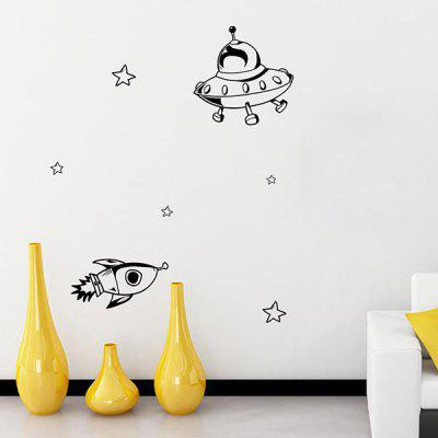 Buy BLACK Cartoon Airship Removable Kids Room Decor Wall Stickers for $5.38 in GearBest store