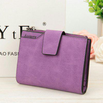Baellerry PU Card Holder Short Clutch Wallet for Women