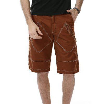 Multi Zipper Pockets Bermuda Shorts