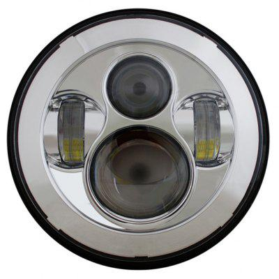45W LED CREE 7 inch Round Headlight for Harley Davidson / Jeep Wrangler - Dragon Version