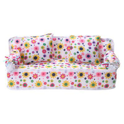 Fabric Sofa with Pillow for Doll Toy
