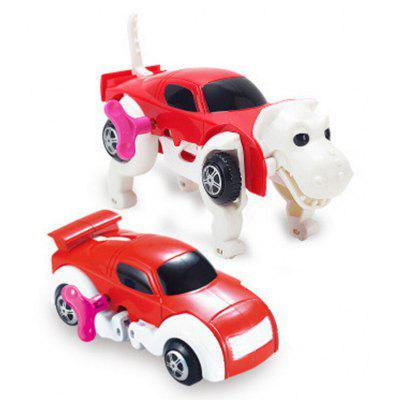 Novelty Clockwork Deformable Car Dog Kids Toy