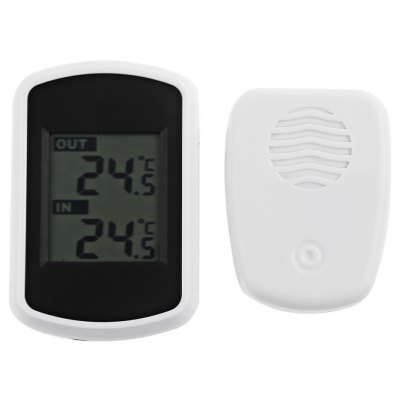 Buy Wireless Indoor Outdoor LCD Digital Thermometer WHITE for $14.20 in GearBest store