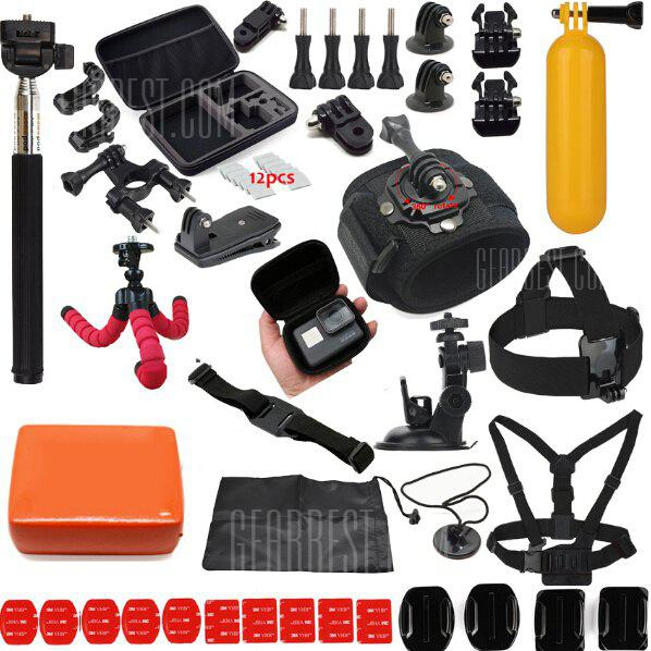 BLACK Universal Action Camera Accessory Kit for GoPro HERO5