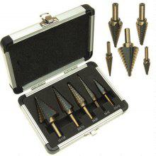 5 in 1 High-speed Steel Step Drill Bit Set
