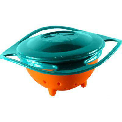 Creative Baby Feeding Bowl 360 Degree Rotatable Funny Toy Non spill Universal Gyroscope UFO Dish
