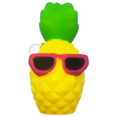 Buy YELLOW Cool Cartoon Pineapple PU Foam Squishy Toy for $5.24 in GearBest store