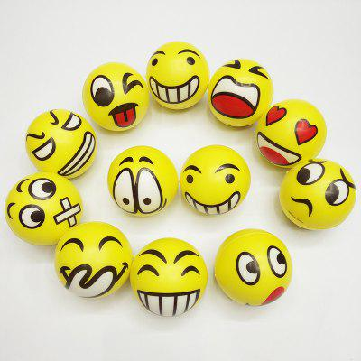 6.3cm Emoji PU Foam Squishy Toy 12pcs / set