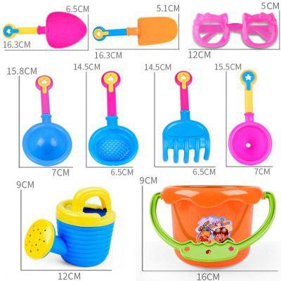 9pcs Kids Sand Beach Toys Castle Bucket Spade Shovel Rake от GearBest.com INT