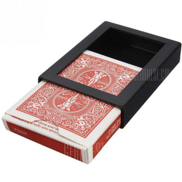 Close-up Magic Trick PVC Vanishing Poker Case Fun Box RED