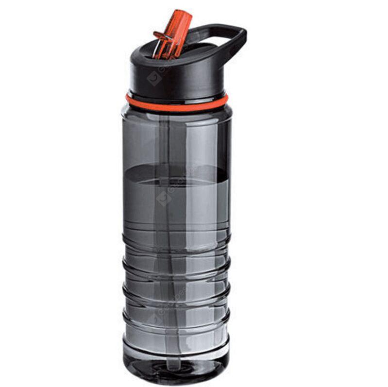 Portable Plastic 800mL Water Bottle with Convenient Straw