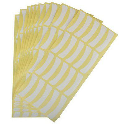 Eye Pads Individual Extensions Eyelash Grafting Isolation Paper Adhesive Sticker Set