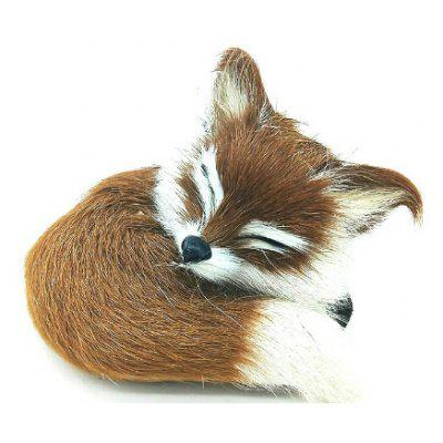 Cute Simulation Fox Plush Toys Kids Appease Doll Gifts