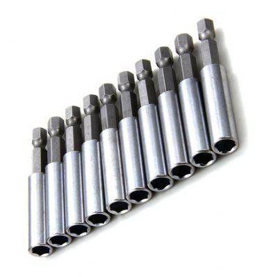 10PCS 6.35 x 60mm Hex Magnetic Extension Bars
