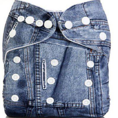 Baby Jeans Style Diaper Waterproof TPU Pants Cover