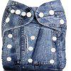 Baby Reusable Washable Jeans Cloth Diaper - BLUE