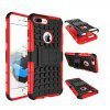Armor Design Double-protection Back Case for iPhone7 - RED WITH BLACK