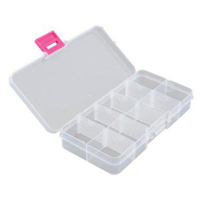 Medicine Jewelry Storage Box Case with 10 Compartments