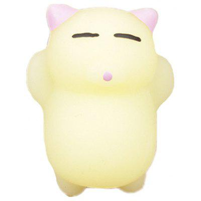 Buy COLORMIX Cute Mini Sleeping Cat TPR Animal Jumbo Squishy Toy for $1.97 in GearBest store