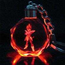 Gleamy Key Chain LED in Crystal Lights Small Fire Dragon