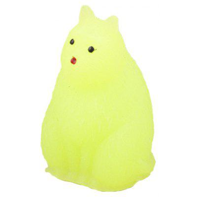 Mini Cartoon Sitting Cat TPR Animal Jumbo Squishy Toy