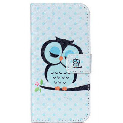 Blue Owl Pattern Flip-open Cover Case for Samsung Galaxy S7