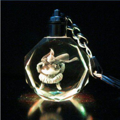 Gleamy Sleutelhanger LED in Crystal Lights Small Fire Dragon