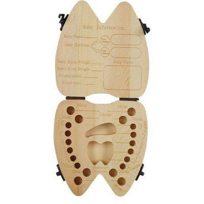 Wood Baby Teeth Collection Box Keepsake