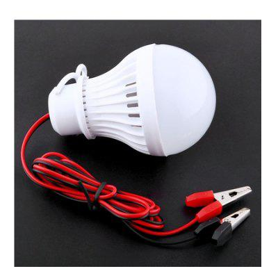 Novelty 5W 12V Plastic LED Bulb Light with ClipOutdoor Lights<br>Novelty 5W 12V Plastic LED Bulb Light with Clip<br><br>Angle: 270 degree<br>Available Light Color: Cold White<br>CCT/Wavelength: 6500K<br>Emitter Types: SMD 5730<br>Features: Non-dimmable<br>Function: Outdoor Lighting, Home Lighting<br>Holder: Other<br>Lifespan: 30000h<br>Luminous Flux: 1200LM<br>Output Power: 5W<br>Package Contents: 1 x Bulb Light<br>Package size (L x W x H): 6.00 x 6.00 x 10.00 cm / 2.36 x 2.36 x 3.94 inches<br>Package weight: 0.0370 kg<br>Product size (L x W x H): 5.00 x 5.00 x 9.00 cm / 1.97 x 1.97 x 3.54 inches<br>Product weight: 0.0120 kg<br>Sheathing Material: Plastic<br>Type: Ball Bulbs<br>Voltage (V): DC 12