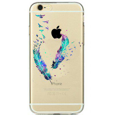 Buy COLORMIX Feather Pattern TPU Phone Case for iPhone 7 for $2.12 in GearBest store