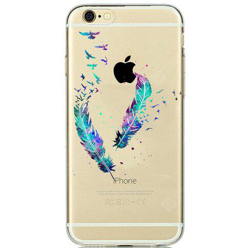 Feather Pattern TPU Phone Case for iPhone 7